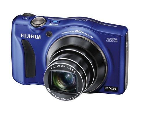 Fujifilm FinePix F770EXR Digital Camera - Blue (16MP EXR CMOS Sensor, 20x Optical Zoom) 3 inch LCD Screen