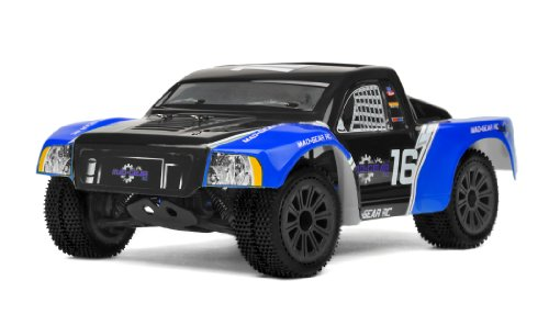 Mad Gear 1/16 Mini Electric Short Course RC Truck 2.4ghz Ready to Run (Blue)