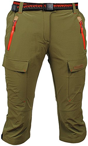 Angel Cola Women's Outdoor Hiking & Climbing Softshell Cargo Shorts PW5208 Khaki 27 Cargo Climbing Shorts