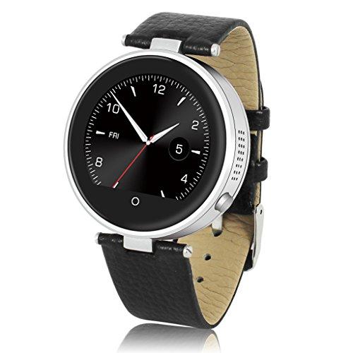 Diggro S365 - Reloj Pulsera Inteligente Smartwatch (Podómetro, Ritmo Cardíaco, Notificador, Monitor de Sueño Deporte, Compatible Con Android, IOS) Plateado