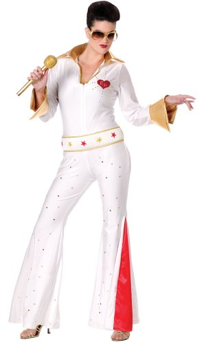 Female Elvis Presley Costume - Womens Medium