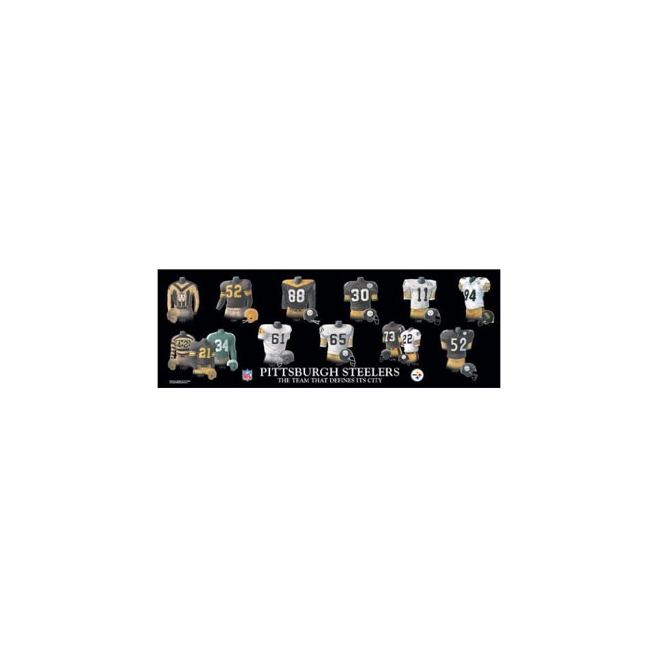 NFL Pittsburgh Steelers Evolution Team History Plaque