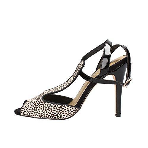 BIBI LOU sandali donna nero cavallino bianco vernice AF373 (37 EU)