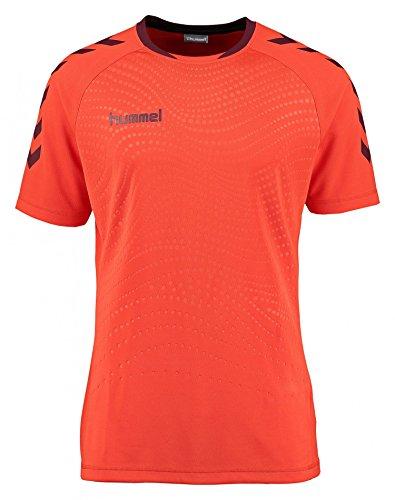 Hummel - Maglietta sportiva -  uomo Grenadine/Black 10 anni