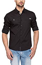 SPYKAR Men Cotton Charcoal Casual Shirt (XX-Large)
