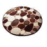 Dearhouse Shaggy Circle Round Stone Beach Towel Yoga Mat Bath Rug Skid Resist Chair Floor Mats Fuzzy Durable Carpet for Living Room Bathroom 31*31 Inch