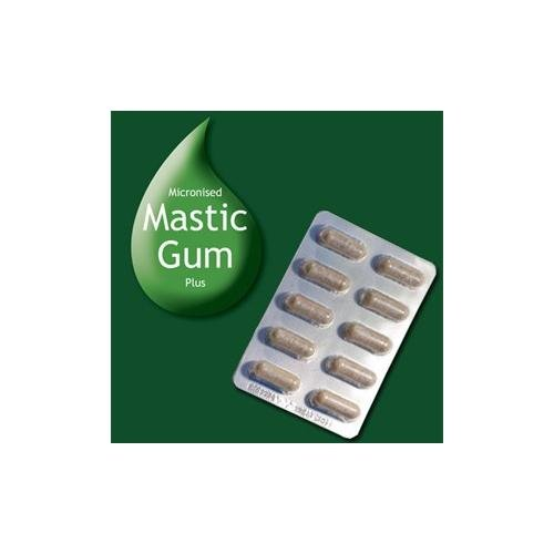 MASTIC GUM PLUS. With Licorice, Aniseed and Fennel. Micronised for maximum bioavailability. 90 Caps