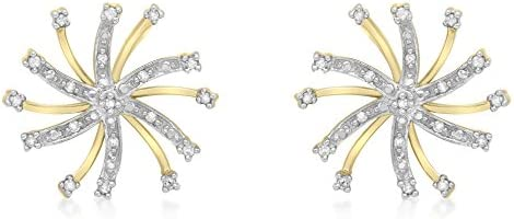 Carissima 9ct Yellow Gold 0.10ct Diamond Snowflake Stud Earrings