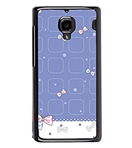 Cute Hair Bow Pattern 2D Hard Polycarbonate Designer Back Case Cover for Xiaomi Redmi 1S :: Xiaomi Redmi 1