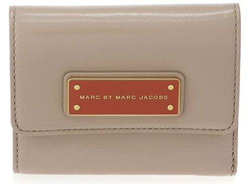 Marc By Marc Jacobs Marc Jacobs Too Hot To Handle Patent Billfold Wallet in Light Taupe Multi