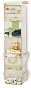 Munchkin 6 Shelf Closet Organizer, Cream/Green