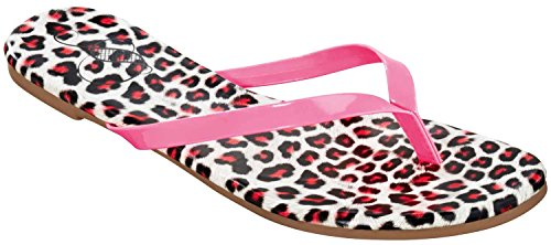 ESMARA® Damen Zehentrenner (leopard/pink, Gr.