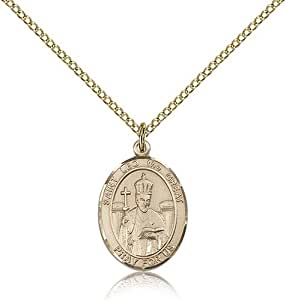 Gold Filled Women's Patron Saint Medal of ST. LEO the GREAT - Includes