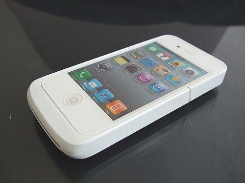 シンプルバッテリーケース for iPhone4(ホワイト)