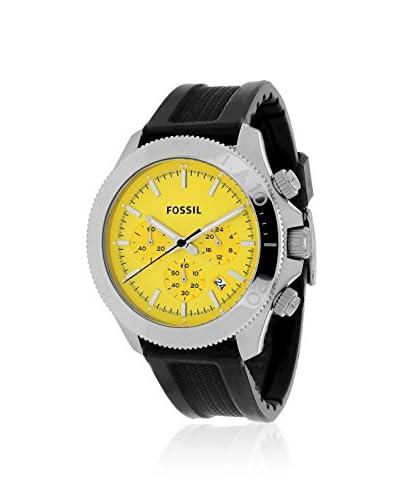 Fossil Men's CH2852 Retro Traveler Black/Yellow Silicone Strap Watch
