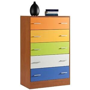 Cassettiera camera ragazzo cassetti colori a scelta for Cassettiera amazon