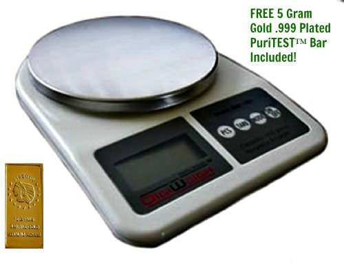 .002 Ounce Stainless Steel Kitchen Scale, Digital