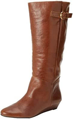 STEVEN by Steve Madden Women's Intyce Riding Boot,Cognac,7 M