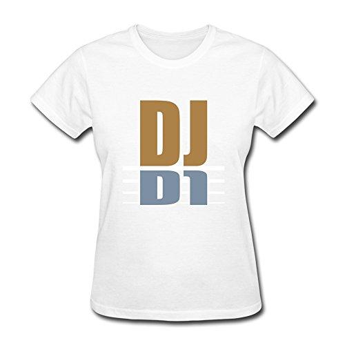 HD-Print Women's Tees Dj S White