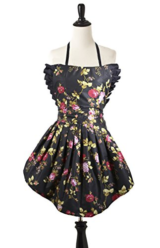 Simply Savvy Co Jasmine MadeinUSA Chemical Resistant Reversible Apron (2 Print Options) (Floral)