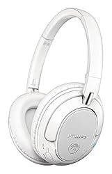 Philips SHB7250WT/00 Wireless Bluetooth Headphones (White)