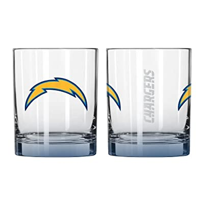 NFL San Diego Chargers Elite Rocks Glass, 14-ounce, 2-Pack