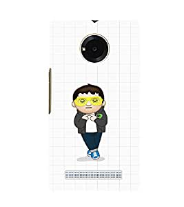 EPICCASE Cool Guy with goggles Mobile Back Case Cover For YU YUNIQUE (Designer Case)