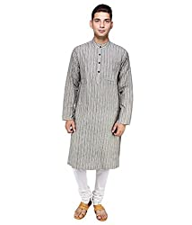 Cotton Collection 100% Fine Cotton Handloom Fabric Men's Long Kurta