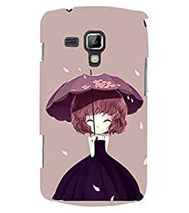 Printvisa Animated Girl Holding Umbrella Back Case Cover for Samsung Galaxy S Duos S7562