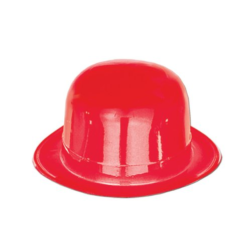 Red Plastic Derby Party Accessory (1 count) - 1