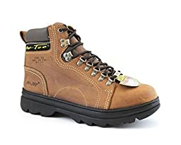 AdTec Womens Brown 6in Steel Toe Work Boot Crazy Horse Leather 6 M