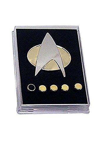 star-trek-the-next-generation-communicator-pin-badge-rank-pip-set-of-6
