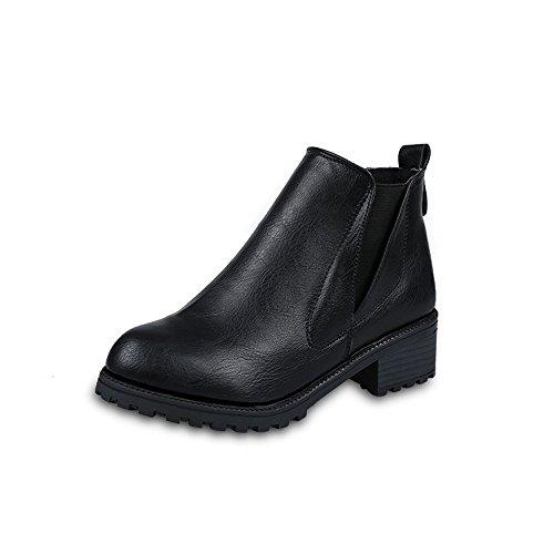 Longra Stivali inverno delle nuove donne della caviglia (EU Size:39, Nero)