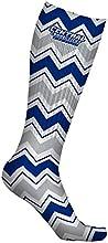 Central Connecticut State Univ CCSU Blue Devils Socks Chevron Design pair
