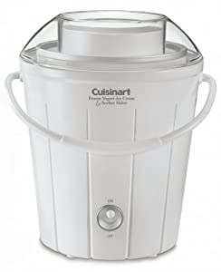 Cuisinart ICE-25 Classic Frozen Yogurt, Ice Cream & Sorbet Maker, White