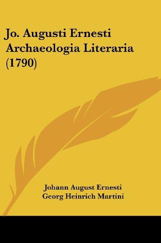 Jo. Augusti Ernesti Archaeologia Literaria (1790)