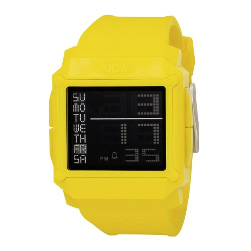 KR3W+Men%27s+K1148+-+YEL+Halo+Negative+Module+Yellow+Watch