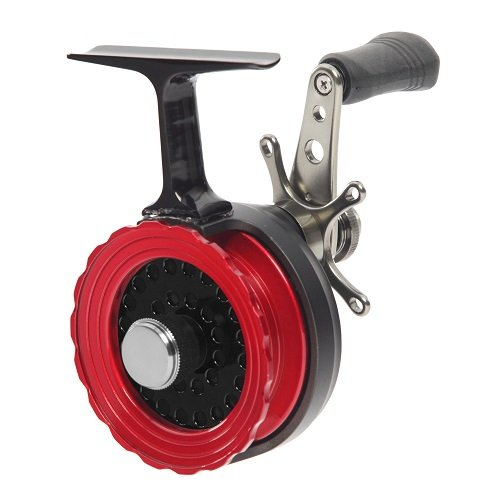 Frabill Straight Line 261 Ice Fishing Reel in Clamshell Pack, Black