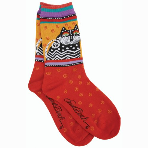 k-bell-socks-laurel-burch-socks-polka-dot-cats-red