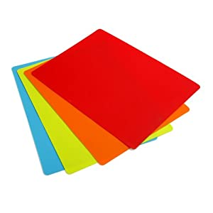 Norpro 4 Piece Gripping Flexible Color Cutting Mats