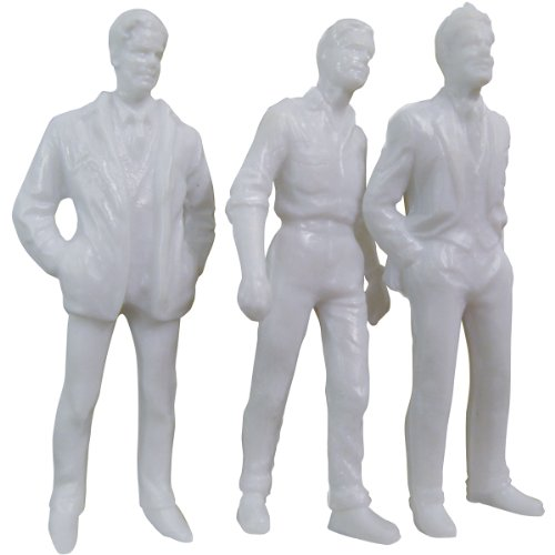 Wee Scapes Architectural Model White Styrene Figurines human males 1.5 inch, pack of 5 - 1