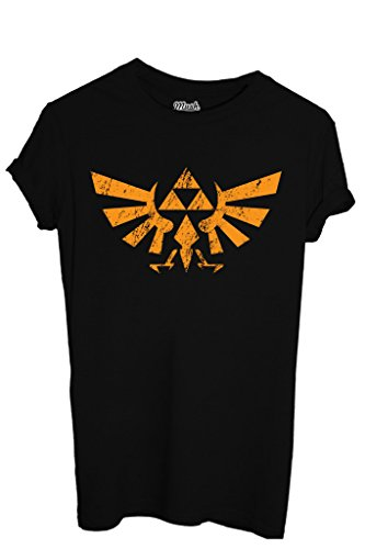 T-Shirt THE LEGEND OF ZELDA LOGO DESTROY - GAMES by MUSH Dress Your Style - Uomo-M-NERA