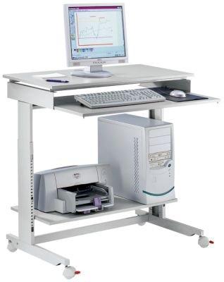 TWINCO Terminaltisch - Breite x Tiefe 900 x 500 mm höhenverstellbar von 720 - 1100 mm - Bildschirmtisch Bildschirmtische Computerstation Computertisch Computertische Drucker-Tisch Drucker-Tische Druckertisch Druckertische EDV-Arbeitsplatz EDV-Möbel