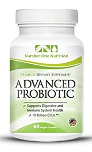 Number One Probiotic Supplement - Probiotics Supplement for Women, Kids and Men. All Natural Formula. Essential for Good Health. 10.12 Billion Per Serving, More Than 50 Billion Cfus in One Bottle. The Best with Lactobacillus + Acidophilus + Billions of Live Cultures. Digestive Advantage Intestinal Flora, Excellent for Colon Health and Constipation. Dr Oz Also Recommends Adding Probiotics to Our Diets - Safe & No Side Effects. Good for Acne. 60 Vegetarian Capsules. Boosts Immune System. *** The Only PROBIOTIC SUPPLEMENT with DOUBLE GUARANTEE, If you are not 100% SATISFIED, we give you MONEY BACK + and EXTRA BOTTLE for an EXTENDED TRIAL PERIOD***