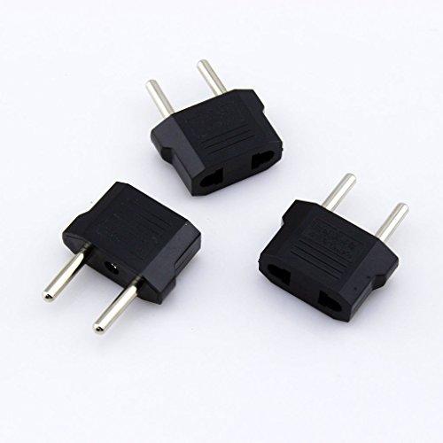 Asunflower® 3pcs US (USA) to EU (Europe) Power Plug Adapter for USA converter PC164x3 (Us Eu Plug Adapter compare prices)