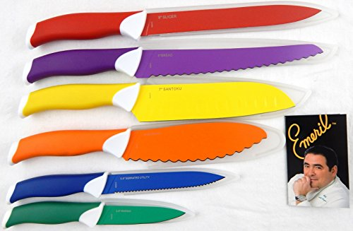 Emeril 6 Pc Multi Colored Knife Set