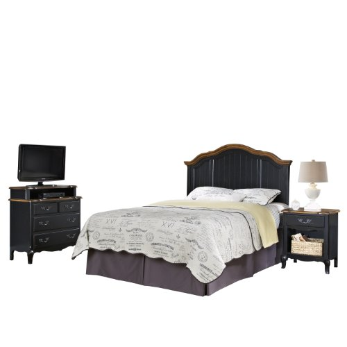 Home Styles 5519-5017 The French Countryside Full/Queen Headboard, Night Stand And Media Chest Set front-981103