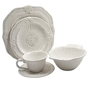 The Jay Companies 5286-20 20-Piece Baroque Dinnerware Set