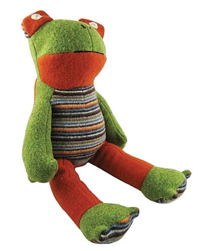 Cate and Levi Inc - Frog Organic Stuffed Animal, 1 toy