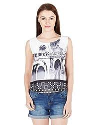 Elle Women's Body Blouse Top (EETO0292_Grey_Medium)